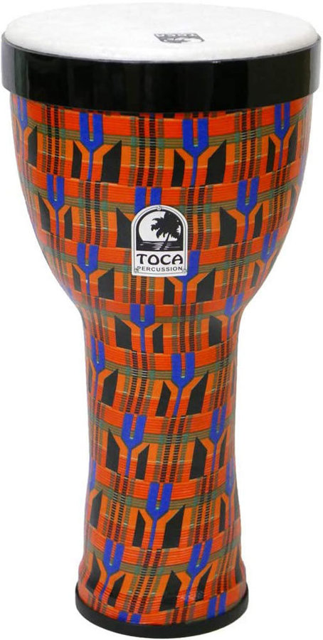 """View larger image of Toca Freestyle II Nesting Djembe -10"""", Kente Cloth"""