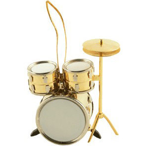 View larger image of Drum Set Ornament - Gold