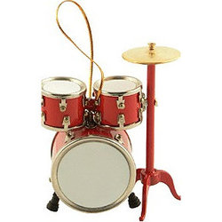 Drum Set Ornament - Red