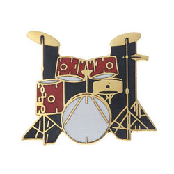 Drum Set Pin - 5-Piece, Red
