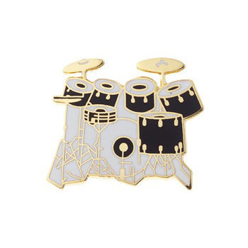 View larger image of Drum Set Pin - 7-Piece, Red