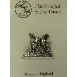 Drum Set Pin - Pewter