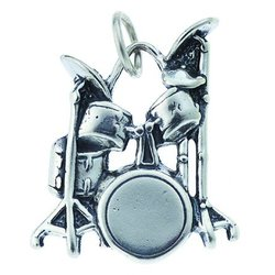 Drum Silver Charm