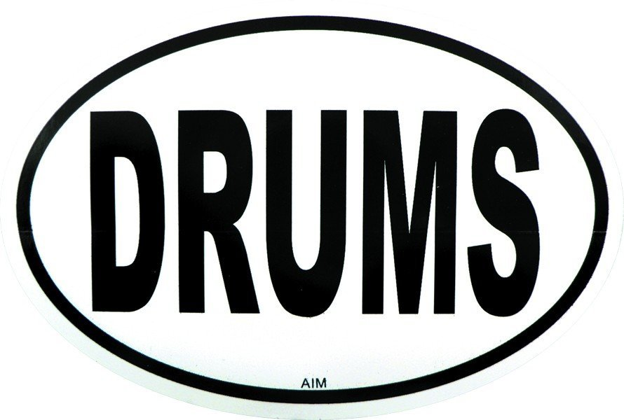 View larger image of Drums Sticker - Oval