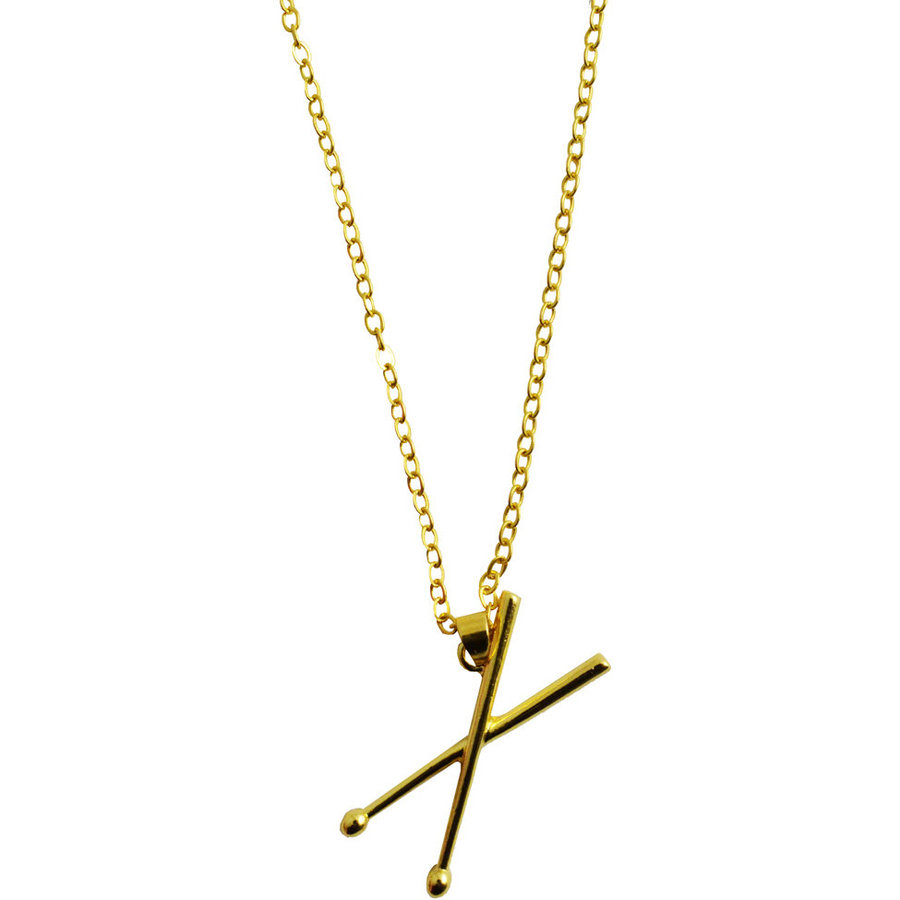 View larger image of Drumsticks Necklace - Gold
