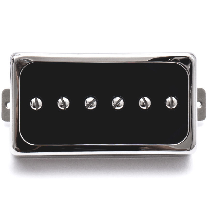 View larger image of Duesenberg Domino P90 Single Coil Bridge Pickup - Black/Nickel
