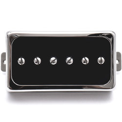 Duesenberg Domino P90 Single Coil Bridge Pickup - Black/Nickel