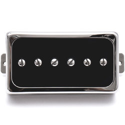 Duesenberg Domino P90 Single Coil Neck Pickup - Black/Nickel
