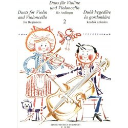 Duets for Violin and Violoncello for Beginners – Volume 2