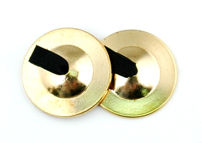 View larger image of Duplex 3709 Brass Finger Cymbals - Thick Cast - Heavy - 2 Pair