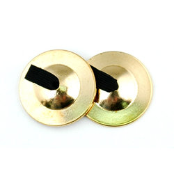 Duplex 3709 Brass Finger Cymbals - Thick Cast - Heavy - 2 Pair