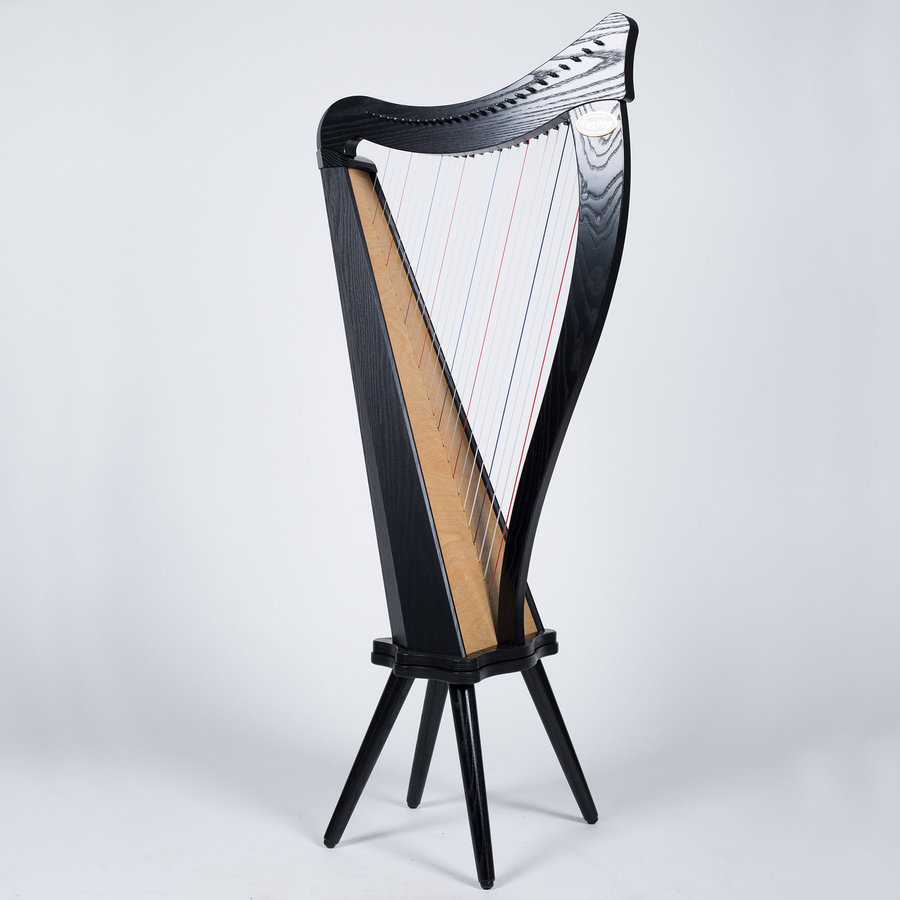 View larger image of Dusty Strings Ravenna 26 Harp with Full Levers and Stand