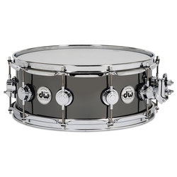 DW Black Nickel Over Brass Snare Drum - 5.5x14