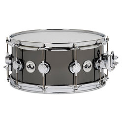 DW Black Nickel Over Brass Snare Drum - 6.5x14