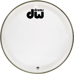 """DW Clear Coated Bass Drumhead - 18"""""""