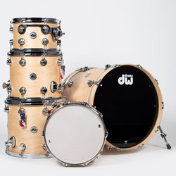 DW Collector's Series 5-Piece Shell Pack - 22/14SD/16FT/14/12, Natural Lacquer