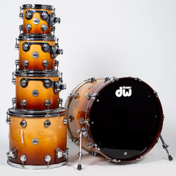 DW Collector's Series 5-Piece Shell Pack - 22/16FT/12/10/8, Burnt Toast Fade Lacquer