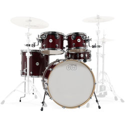 DW Design Series 5-Piece Shell Pack - 22/14SD/16FT/12/10, Cherry Stain