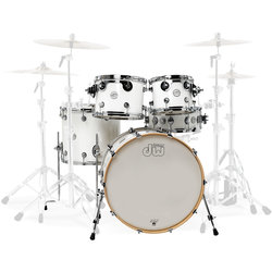 DW Design Series 5-Piece Shell Pack - 22/14SD/16FT/12/10, Gloss White