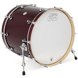 DW Design Series Bass Drum - 18 x 22, Cherry Stain