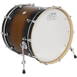 DW Design Series Bass Drum - 18 x 22, Tobacco Burst