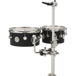 DW Design Series Concert Tom Set - 5x8/5x10 - Black Satin