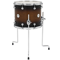 DW Design Series Floor Tom - 12 x 14, Tobacco Burst