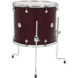 DW Design Series Floor Tom - 16 x 18, Cherry Stain