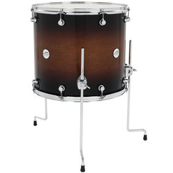 DW Design Series Floor Tom - 16 x 18, Tobacco Burst
