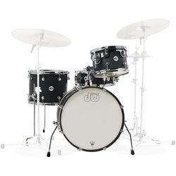 DW Design Series Frequent Flyer 4-Piece Shell Pack - 20/14SD/14FT/12, Black Satin