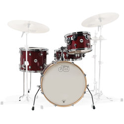 DW Design Series Frequent Flyer 4-Piece Shell Pack - 20/14SD/14FT/12, Cherry Stain