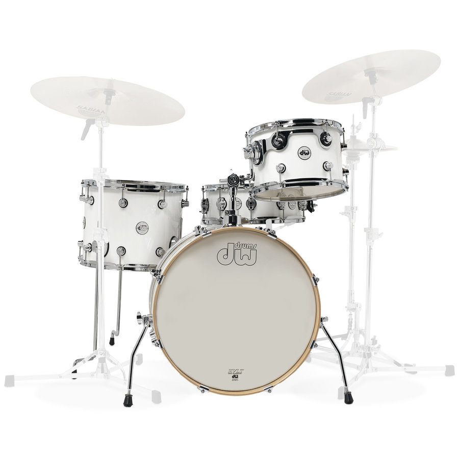 View larger image of DW Design Series Frequent Flyer 4-Piece Shell Pack - 20/14SD/14FT/12, Gloss White