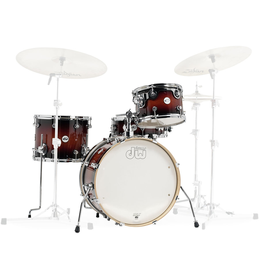View larger image of DW Design Series Frequent Flyer 4-Piece Shell Pack - 20/14SD/14FT/12, Tobacco Burst