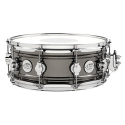 DW Design Series Snare Drum - Black Nickel over Brass, 5.5x14