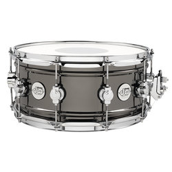 DW Design Series Snare Drum - Black Nickel over Brass, 6.5x14
