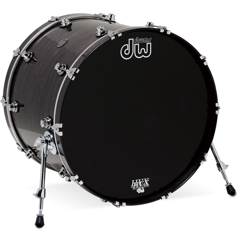 View larger image of DW Performance Series Bass Drum - 18x22, Ebony Stain
