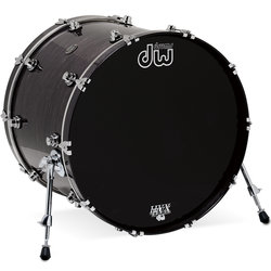 DW Performance Series Bass Drum - 18x22, Ebony Stain