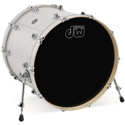 DW Performance Series Bass Drum - 18x22, White Marine