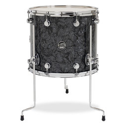 DW Performance Series Floor Tom - 14x16, Black Diamond
