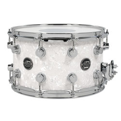 DW Performance Series Snare Drum - 8x14 - White Marine