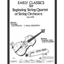 Early Classics for Beginning String Quartet or Orchestra