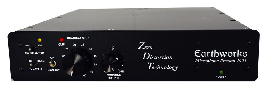 View larger image of Earthworks 1021 1-Channel Zero Distortion Preamplifier