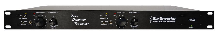 View larger image of Earthworks 1022 2-Channel Zero Distortion Preamplifier
