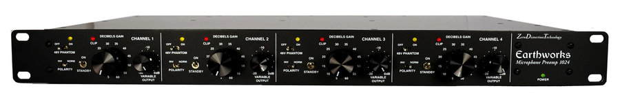 View larger image of Earthworks 1024 4-Channel Zero Distortion Preamplifier