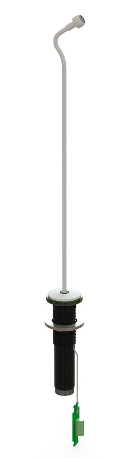 View larger image of Earthworks IML12-W Gooseneck Installation Microphone with LumiComm Touch Ring - 12, White