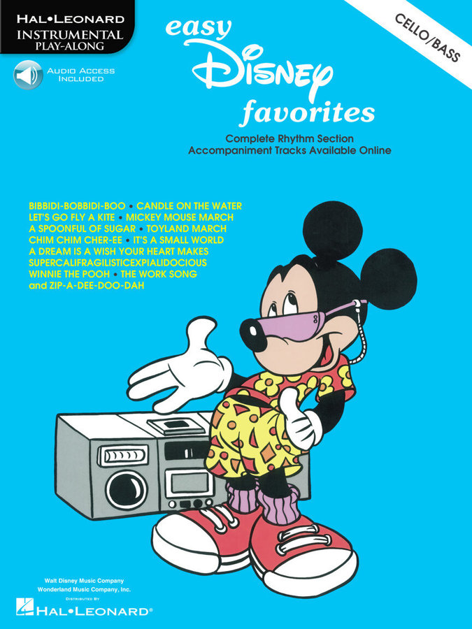 View larger image of Easy Disney Favorites - Cello/Bass w/Online Audio