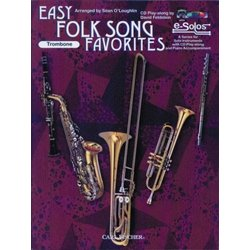 Easy Folk Favorites - Trombone w/CD/DVD