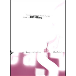 Easy Jazz Conception for Bass Lines - Book / CD
