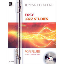 Easy Jazz Studies With CD - For Flute