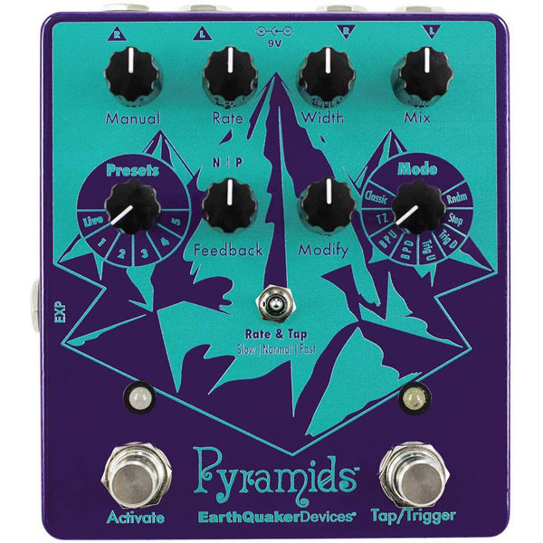 View larger image of EarthQuaker Pyramids Stereo Flanger Pedal